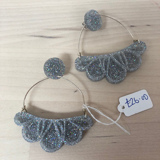 Carly Dove sparkly sculpted earrings