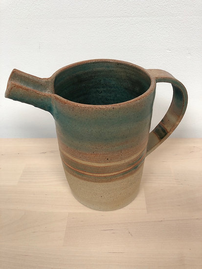 Jonquil Cook rustic hand thrown earthenware jug
