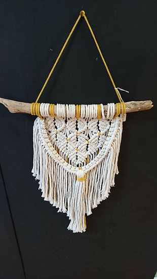 Large Macrame Wall Hanging  - Moon and Star