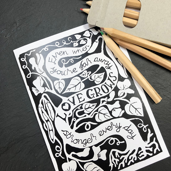 Colouring Card - Seeds of Hope