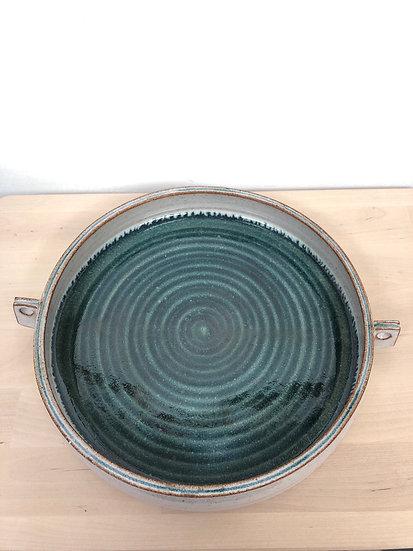 Ivana Kosco white & green stoneware bowl