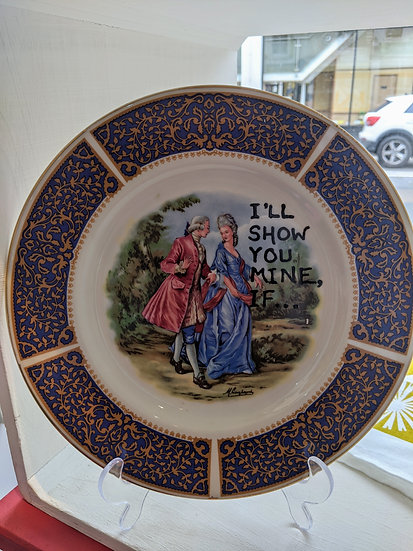I'll Show you mine, if...... Plate - Harper Bizarre Art