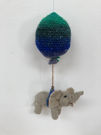 Bless This Mess handfelted mobile featuring charming elephant!