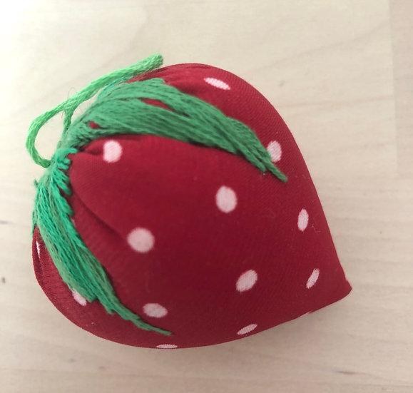 Handmade strawberry pincushion