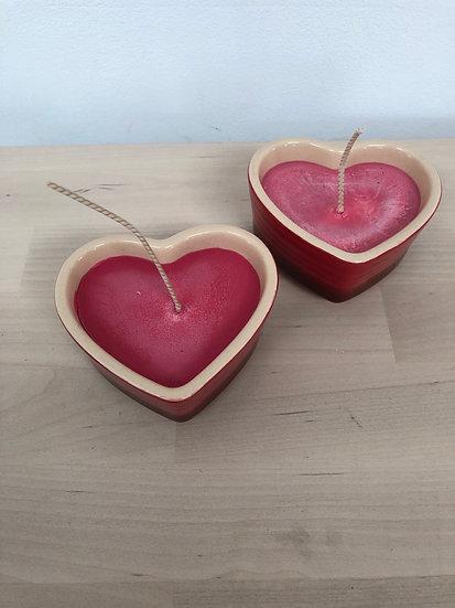 Lady Stella Elizabethan fragranced heart candle - each...
