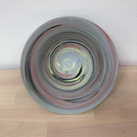 Polished hand thrown porcelain bowl