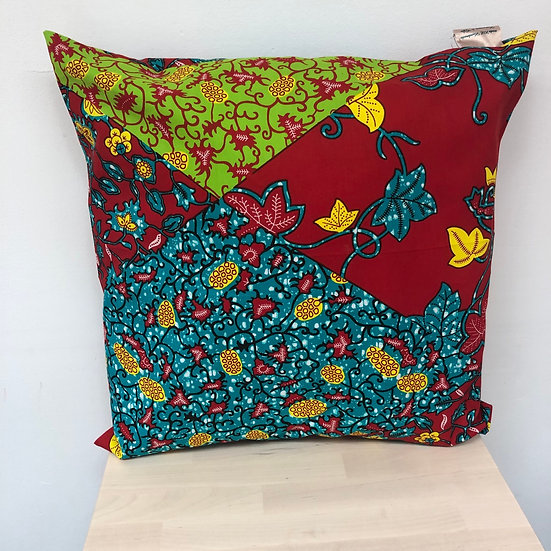 African fabric cushion cover (cover only)