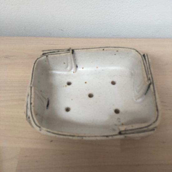 Fiona Veacock hand built ceramic soap dish