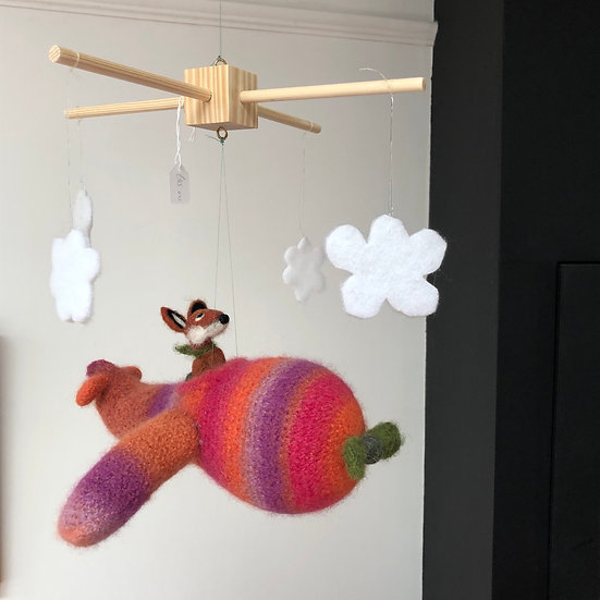 Bless This Mess hand-felted mobile
