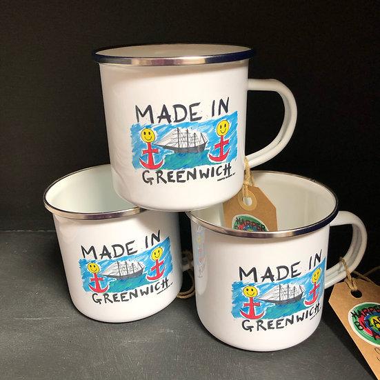 Made in Greenwich exclusive tin mug