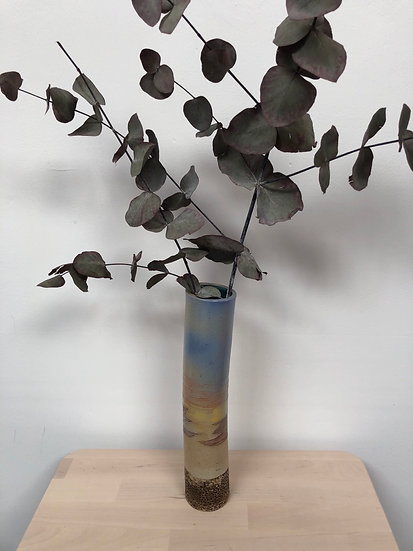 'Flows 2' hand built ceramic vase by Pat Roberts