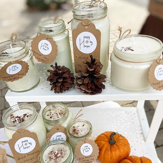 Soy candle in Forest - Happy by Harper
