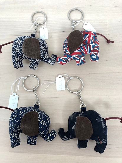 'An elephant never forgets' handmade mini key ring by Bluebell Marsh - each...