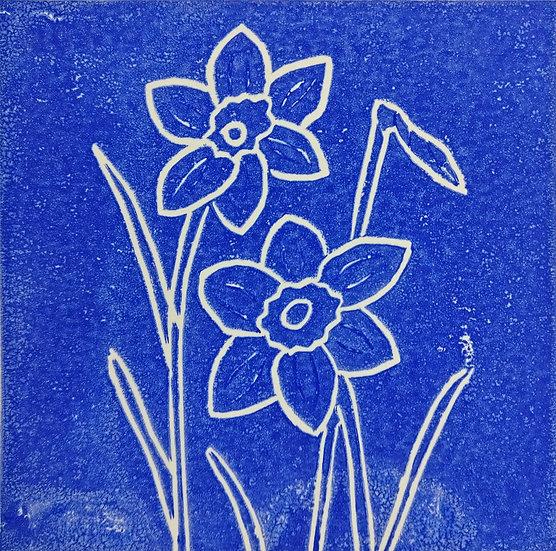 Handmade lino print card