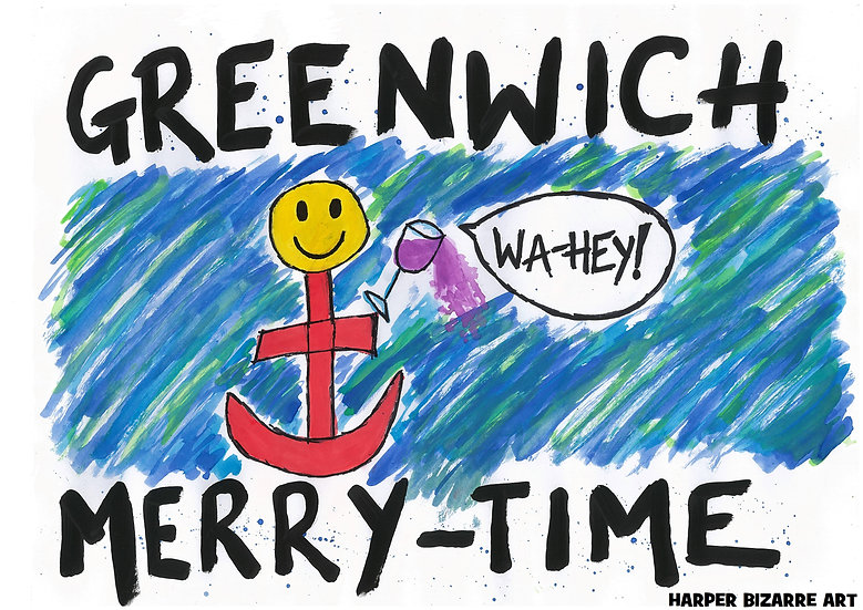 Art Print Greenwich Merry Time by Harper Bizarre Art