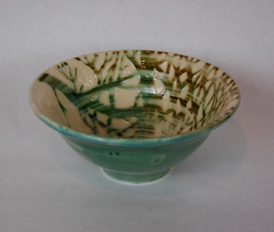 Earthenware 'Fforest' bowl by Jonquil Cook