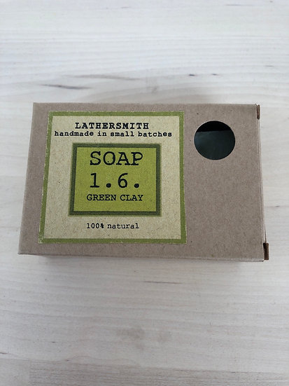 LatherSmith handmade soap 1.6 in Green Clay