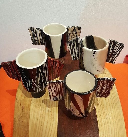 Mini Ceramic Winged Pots - Madeline Herbert