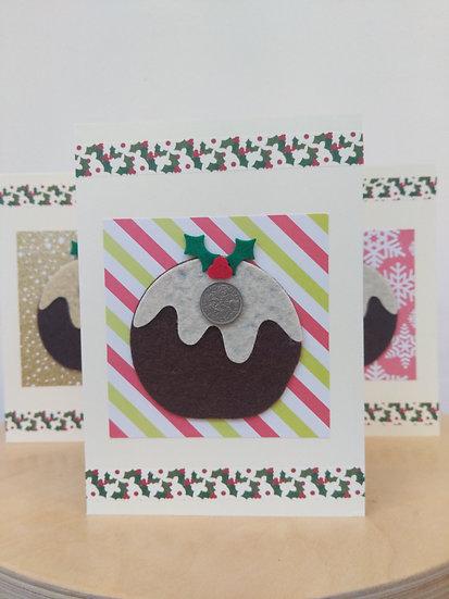 Six Pence Felt Pudding Christmas Card - Baish Design