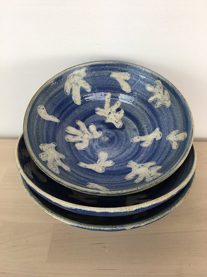Stoneware bowls 'cut-out' series