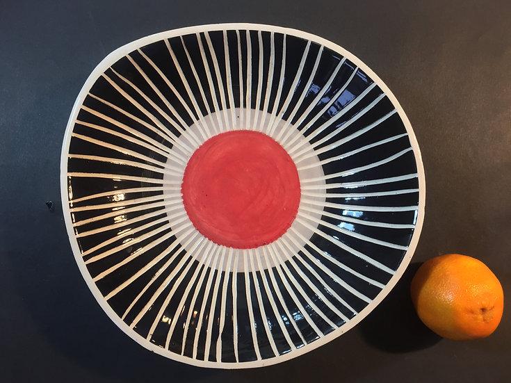 Red Eye Platter by Madeline Herbert