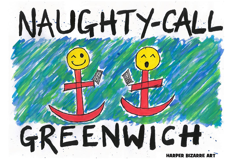 Art Print Greenwich Naughty Call by Harper Bizarre Art