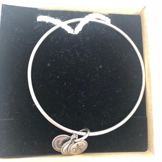 Sterling silver nautical charm bangle