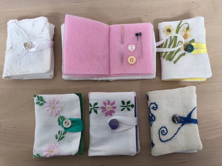 Upcycled embroidery needle cases (please specify) - each...