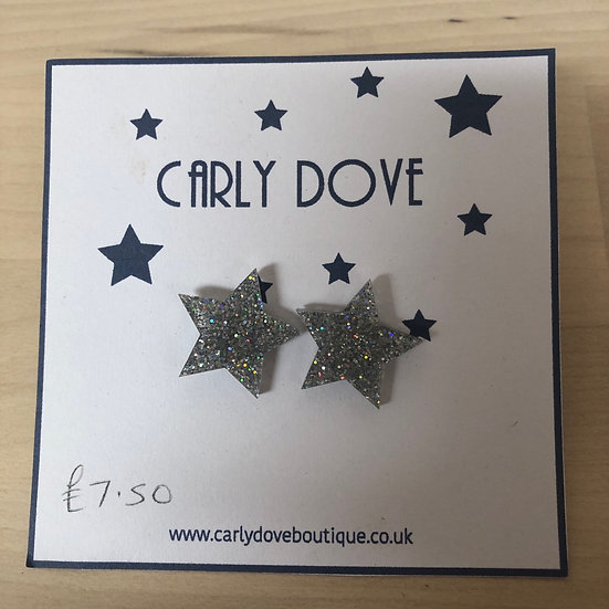 Carly Dove sparkly star studs