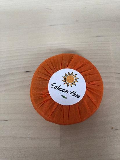 Mini Saboon Alee organic soap in Geranium & Orange