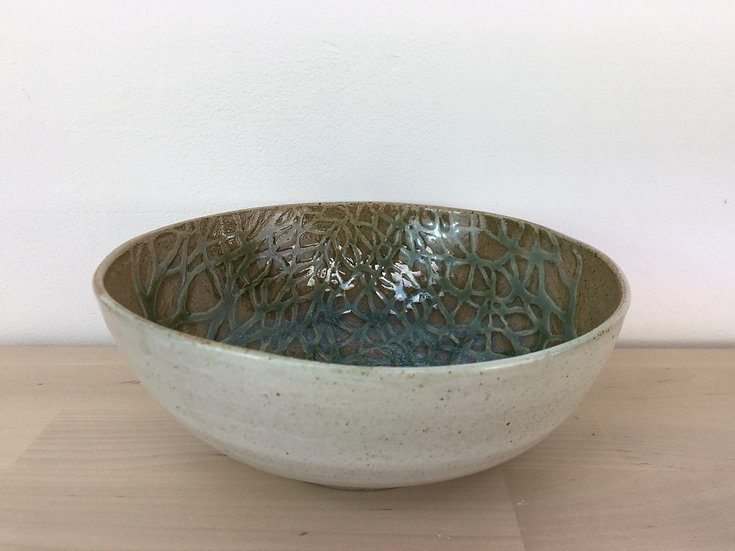 Stoneware 'Fforest' bowl, by Jonquil Cook