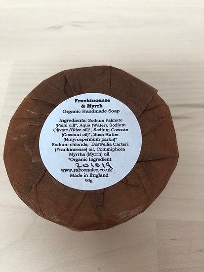 Saboon Alee organic handmade soap in Frankincense & Myrrh