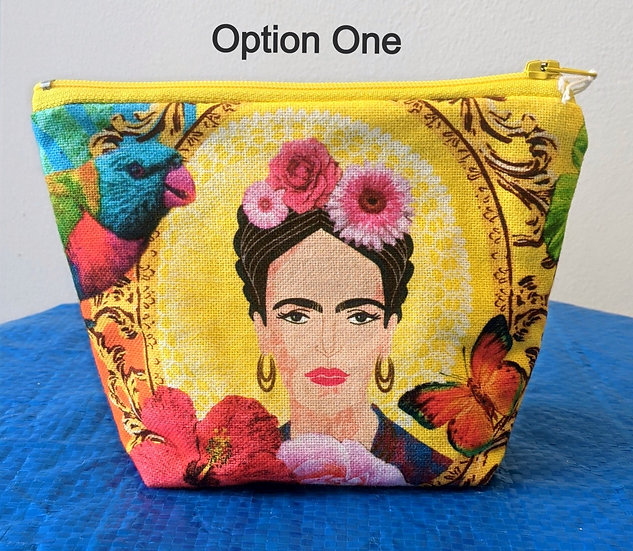 Frida Kahlo Medium Makeup Bag - by Baish Design