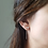 Thumbnail: Sterling silver seed earrings