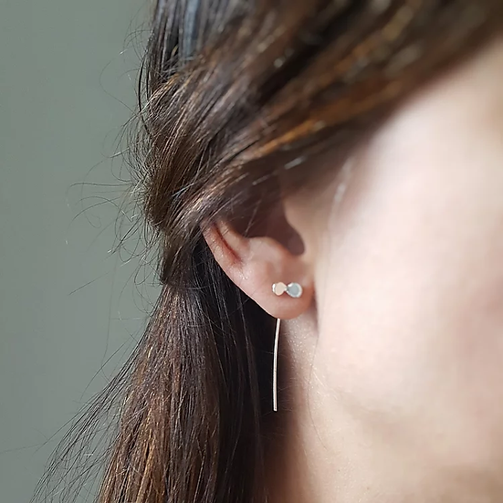 Sterling silver seed earrings
