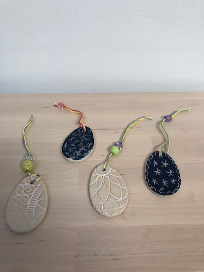 Ceramic Easter decorations - various - by Fiona Veacock - each...