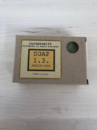 LatherSmith handmade soap 1.3 in Kaolin Clay