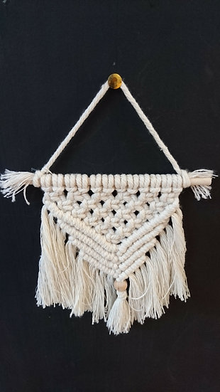Small Macrame Hanging Decoration - Moon and Star
