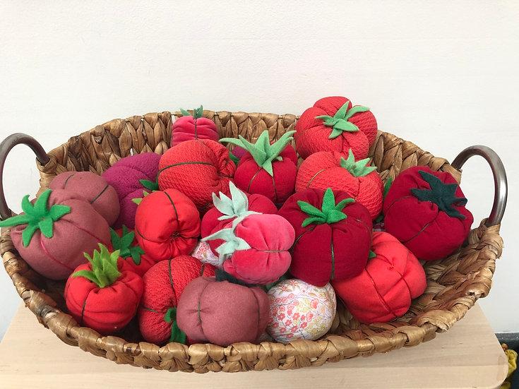 Large tomato pincushion
