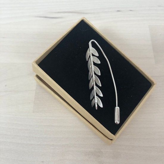 Sterling silver olive branch pin