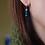 Thumbnail: Slim blue sterling silver earrings