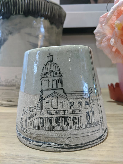 Royal Collage Greenwich Jar - By Fiona Veacock Ceramics