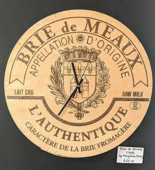 Brie de Meaux Wheel Clock - Mary Jane Makes