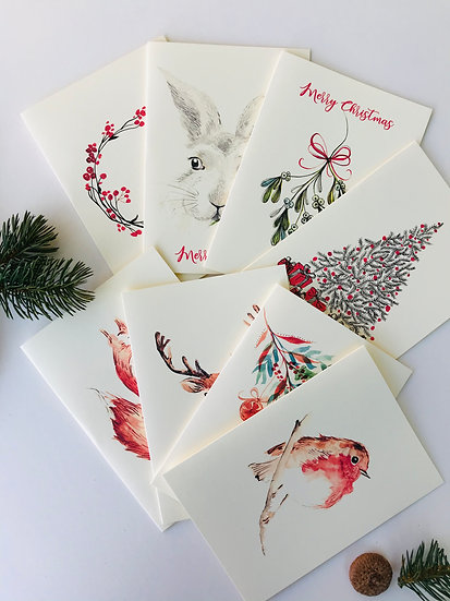 Selection of 8 Christmas Cards - Maria Zvaric