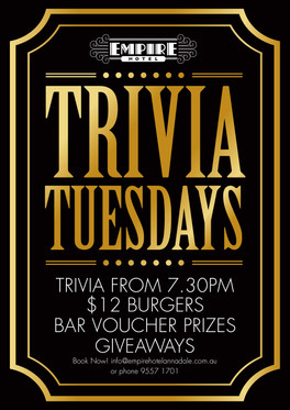Trivia Tuesday Poster