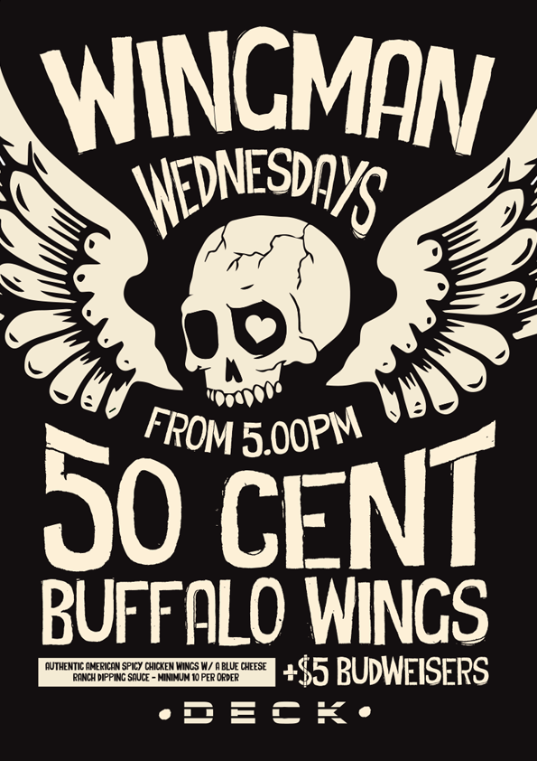50c Wings Poster
