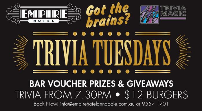 Trivia Tuesday Ad