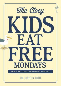 Kid's Eat Free Poster