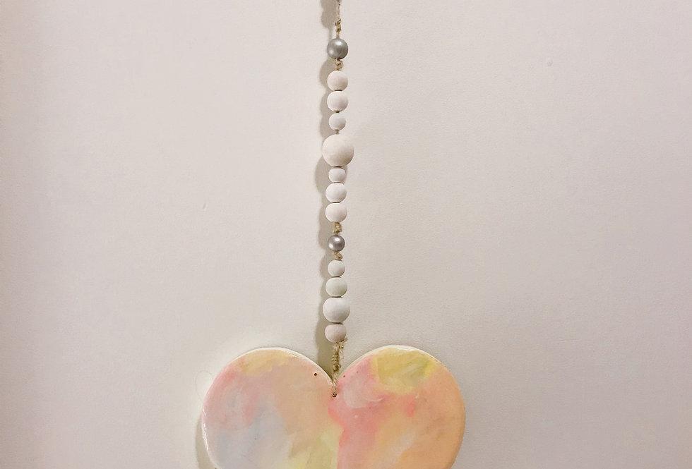 Neon pastel Hanging wall Heart