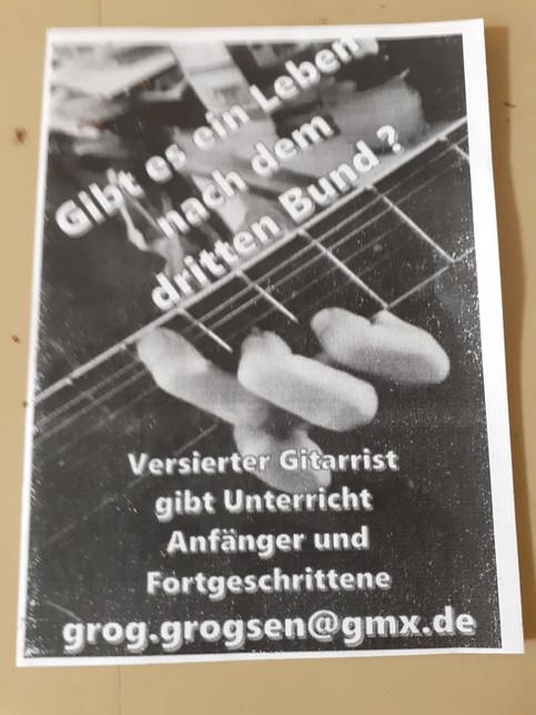 Jetzt gibts auch noch Gitarrenunterricht